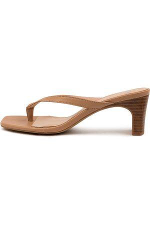 Mollini Women Heeled Sandals - Hanoria Mo Dk Nude Natural Heel Sandals Womens Shoes Dress Heeled Sandals