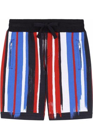 Dolce & Gabbana Kids Painted stripe cotton shorts