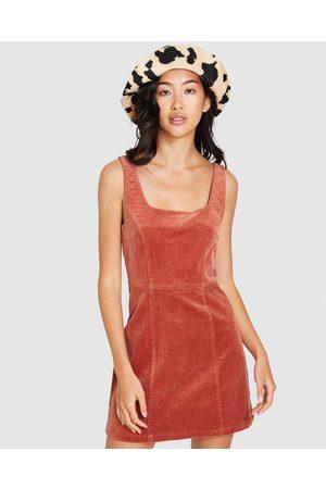 Insight Kristin Stretch Cord Dress Rust