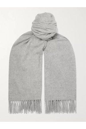 Acne Studios Men Scarves - Oversized Fringed Melangé Wool Scarf