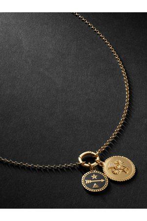 Foundrae Men Necklaces - 18-Karat , Diamond and Enamel Necklace