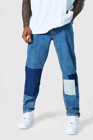 Boohoo Mens Antique Straight Leg Patchwork Jean