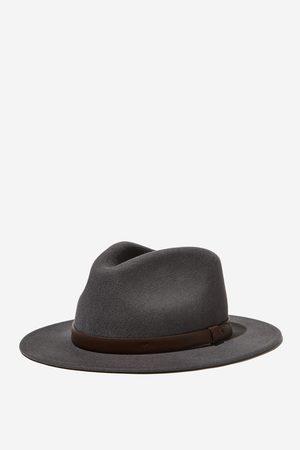 Cotton On Men Men Hats - Wide Brim Felt Hat - Charcoal/
