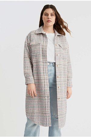 WITCHERY Women Outdoor Jackets - Textured Longline Shacket