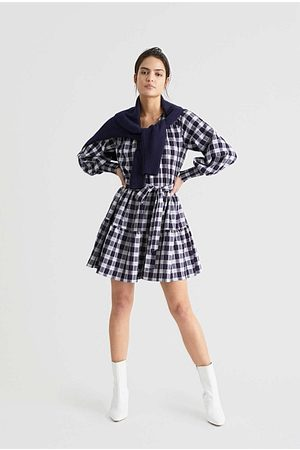 WITCHERY Women Dresses - Tiered Check Dress