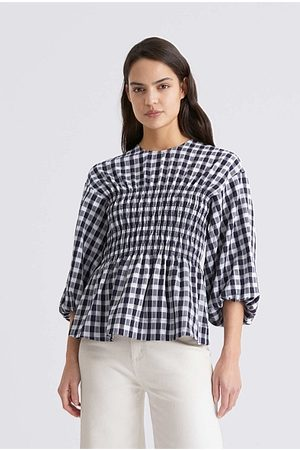 WITCHERY Women Blouses - Shirred Check Blouse