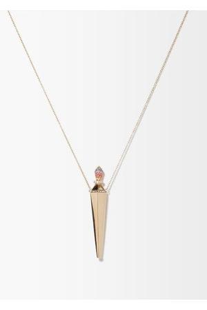 Diane Kordas Women Necklaces - Diamond, Sapphire & 18kt Rose- Amulet Necklace - Womens - Rose
