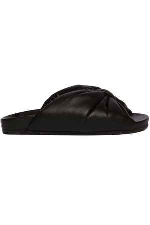 Balenciaga Women Thongs - Puffy Knotted Leather Slides - Womens
