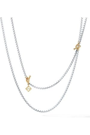 David Yurman DY Bel Aire Chain Necklace With 14K Yellow Gold
