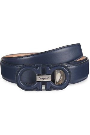 Salvatore Ferragamo Adjustable Gancini Buckle Leather Belt