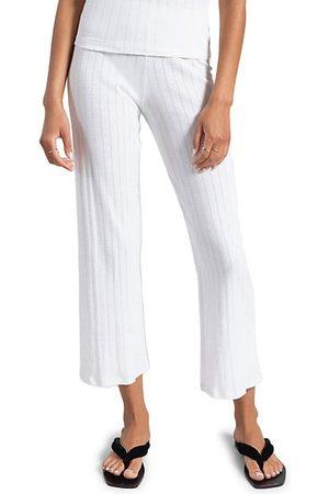 Leset Pointelle Burnout Crop Pants