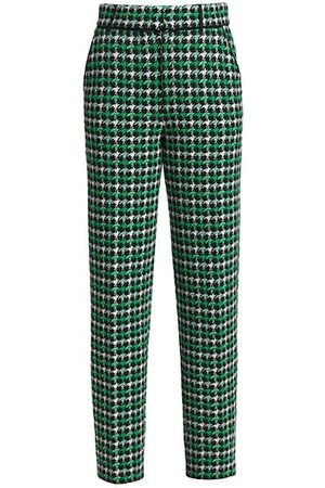 Barrie Knit Houndstooth Cropped Pants