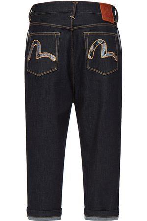 Evisu Men Bootcut & Flares - Dragon-pattern Brocade Seagull Wide Leg Denim Jeans