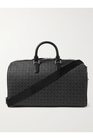 Dunhill Men Travel Bags - Leather-Trimmed Logo-Print Coated-Canvas Holdall