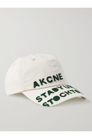 Acne Studios Men Caps - Logo-Appliquéd Cotton Baseball Cap