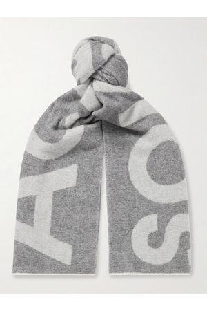 Acne Studios Men Scarves - Reversible Two-Tone Intarsia Wool-Blend Scarf