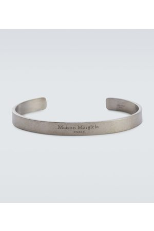 Maison Margiela Men Bracelets - Logo sterling cuff bracelet