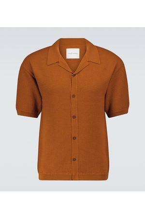 King & Tuckfield Merino knitted short-sleeved shirt