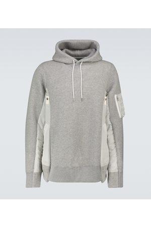 SACAI MA-1 crewneck hooded sweatshirt