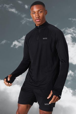 Boohoo Men Polo Shirts - Mens Man Active Lightweight Marl 1/4 Zip Top