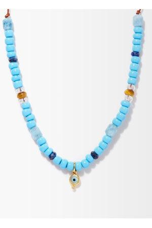 Musa by Bobbie Evil Eye Diamond & 24kt Gold Beaded Necklace - Womens