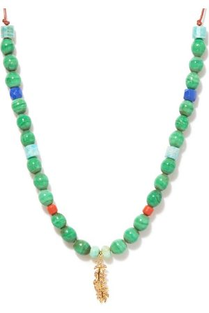 Musa by Bobbie Chrysoprase & 14kt Gold Beaded Necklace - Womens