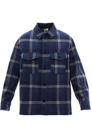 Isabel Marant Men Shirts - Gervon Checked Virgin-wool Overshirt - Mens - Multi