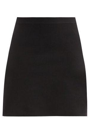 Bottega Veneta Godet-pleat Wool-blend Mini Skirt - Womens