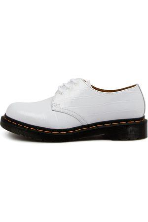 DR MARTEN Women Casual Shoes - 1461 3 Eye Shoe Croc Embossed Shoes Womens Shoes Casual Flat Shoes