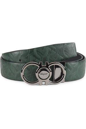 Salvatore Ferragamo Double Adjustable Gancini Buckle Belt