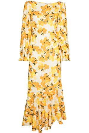 Peony Women Printed Dresses - HI NK CUTOUT DRS MIDI CITRUS PRINT