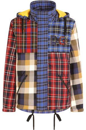 Dolce & Gabbana Plaid-check patchwork coat