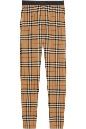 Burberry Vintage check logo leggings