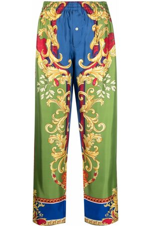 Versace Baroque-pattern print trousers