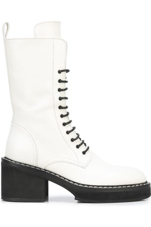 Khaite Women Lace-up Boots - The Cody 80mm lace-up boots