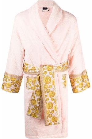 VERSACE Evening Dresses - Baroque-pattern tied-waist gown