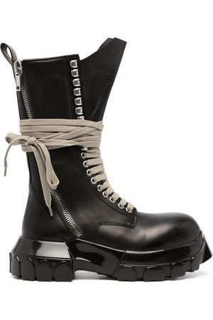 Rick Owens DRKSHDW Chunky lace-up leather boots