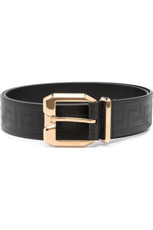 VERSACE Men Belts - La Greca leather belt