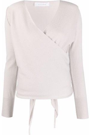 Liska Knitted wrap top
