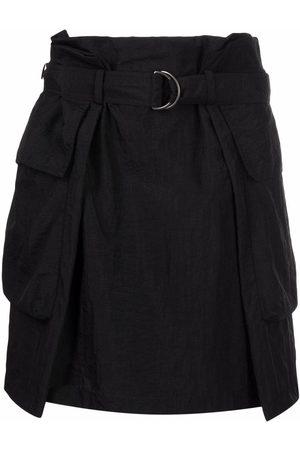 Kenzo High-waisted belted miniskirt
