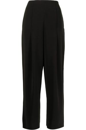 Armani Women Formal Pants - High-waisted wide-leg trousers