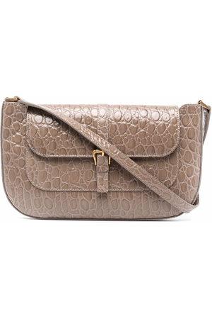 By Far Miranda crocodile-effect shoulder bag