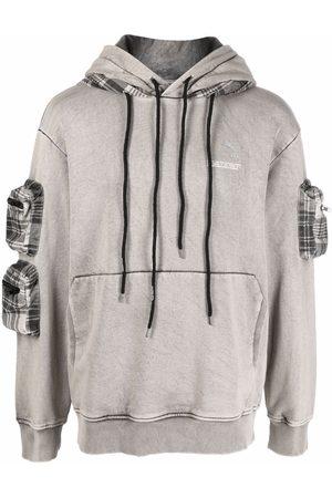 MAUNA KEA Plaid-check panel hoodie