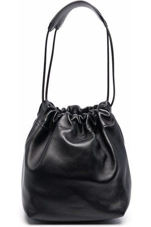 Jil Sander Women Shoulder Bags - Ruched leather shoulder bag