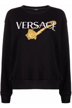 VERSACE Safety pin logo sweatshirt