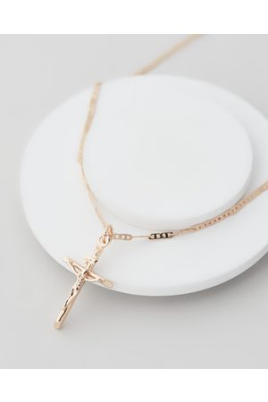 Chained & Able Necklaces - Mini Flat Anchor Crucifix - Jewellery Mini Flat Anchor Crucifix