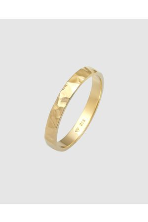 Elli Jewelry Women Rings - Ring Basic Fine Hammered Trend in 925 Sterling Silver Plated - Jewellery Ring Basic Fine Hammered Trend in 925 Sterling Silver Plated