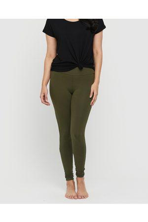 Bamboo Body Soft Bamboo Leggings - Pants (Dark Olive) Soft Bamboo Leggings