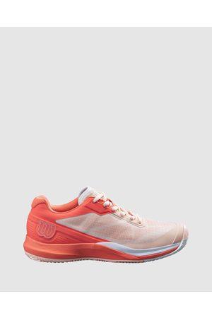 Wilson Rush Pro 3.5 Clay Tennis Shoes Women's - Training (Tropical Peach, Hot Coral & ) Rush Pro 3.5 Clay Tennis Shoes - Women's