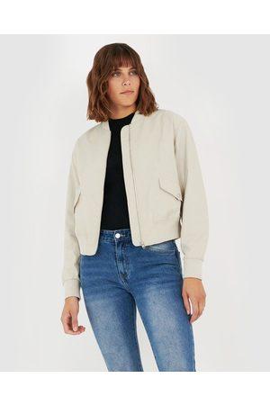 Forcast Devina Bomber Jacket - Coats & Jackets (Cream) Devina Bomber Jacket